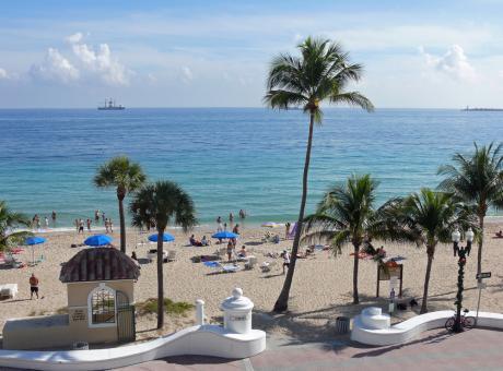 A poca distancia de la playa de Fort Lauderdale