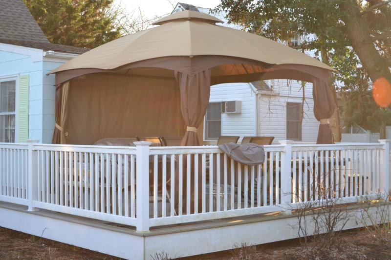 Cool Gazebo keeps bugs out so you can enjoy those Cape May nights!