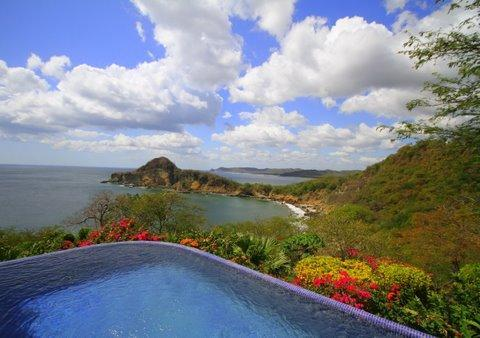 View of the Pacific and 'Giant's Foot' from your infinity pool