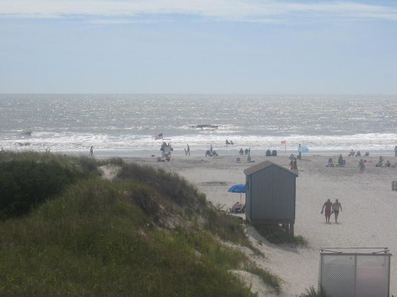 Brigantine's best guarded beach steps away!