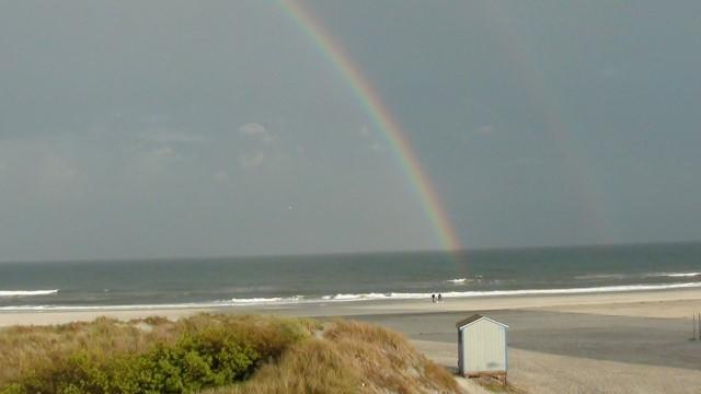Summer rainbow from master bedroom deck