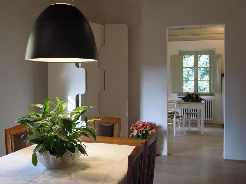 Villa Caprera. Casa Borgianni. The dining room