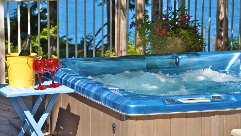 Spabad met uitzicht