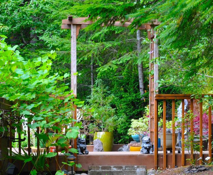 Toegang tot de tuin meditatie