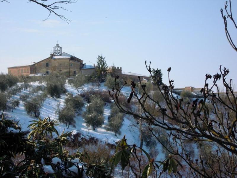 Villa Caprera. View towards the Church in Winter