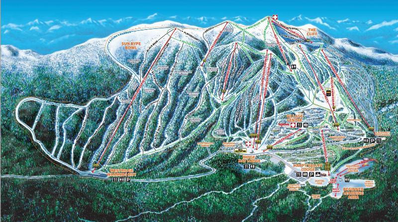 mapa de esquí
