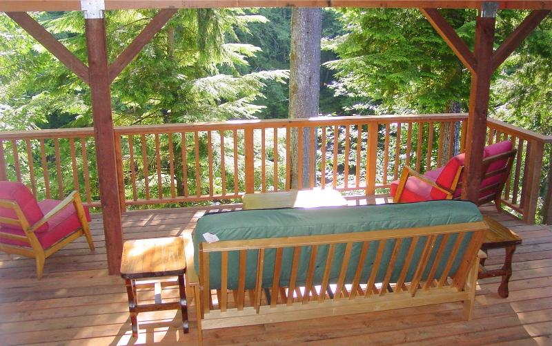 Back deck overlooking the Sol Duc River!