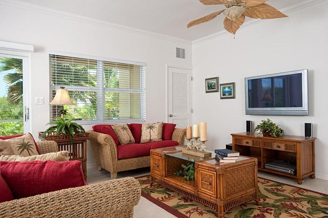 Grace Bay Townhomes - Large great room with flat screen TV!