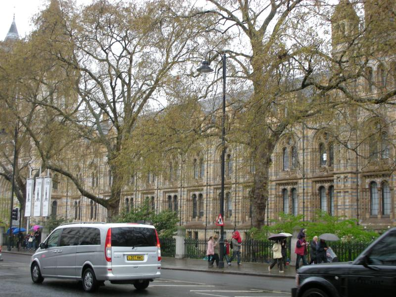 The exterior of Natural History Museum - only 6 minutes by train