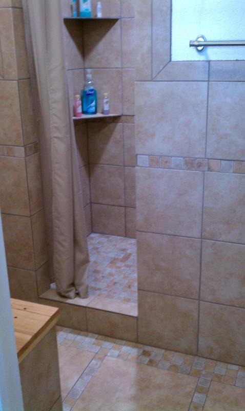 downstairs bath/shower/changing area