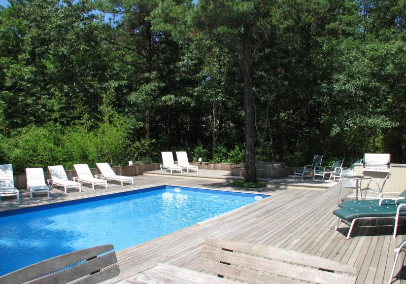 Heated Pool and Mahogany deck view