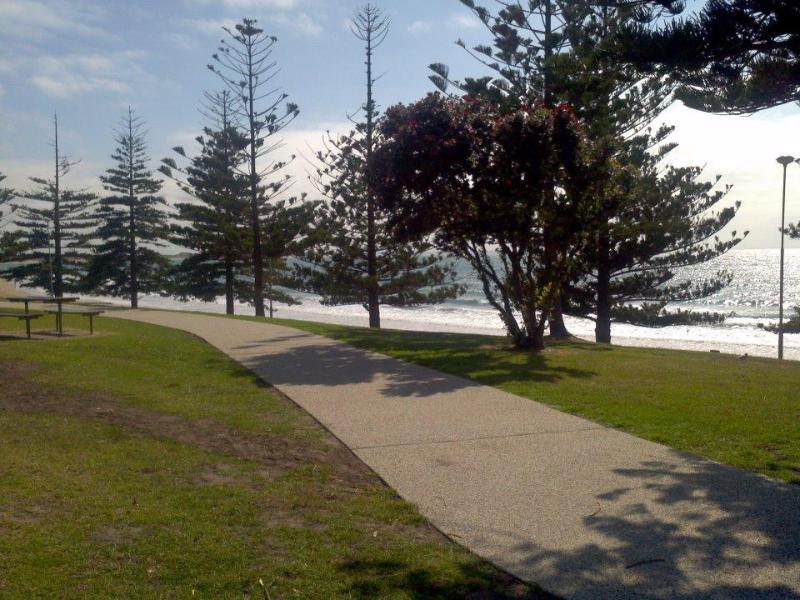 pathways along foreshore at Front Beach....