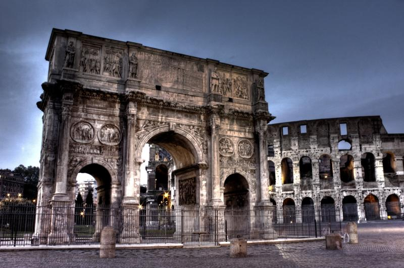 The Colosseum and Constantin Arch