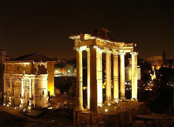 Forum by night