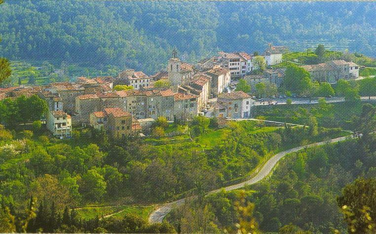 Charming 700 yr-old Provence View Rental Home with a Terrace, holiday rental in Claviers