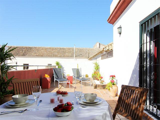 Alameda Terrace. 1 bedroom, large private terrace, vacation rental in Seville