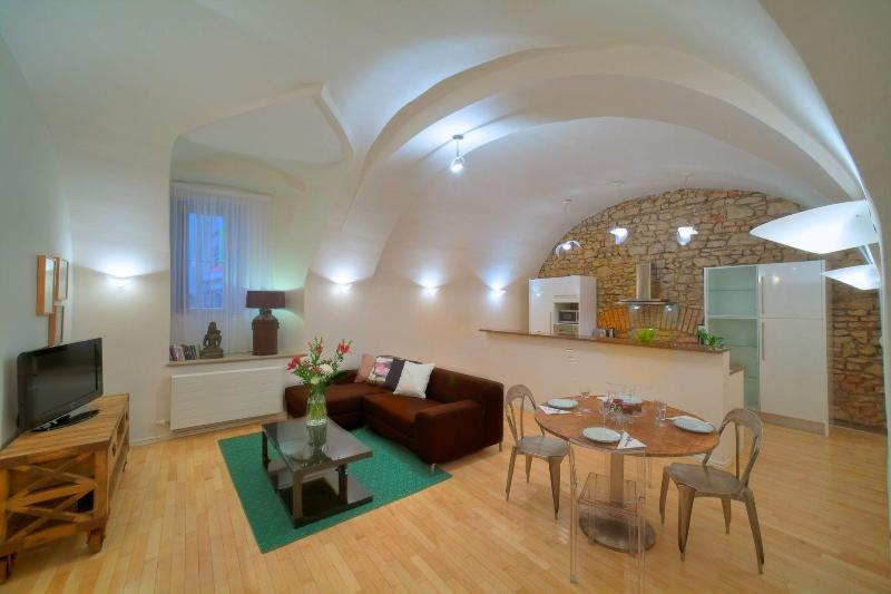 Two-Bedroom Vault Apartment - View