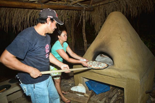 Authentic wood burning oven. Have an outdoor Pizza night!