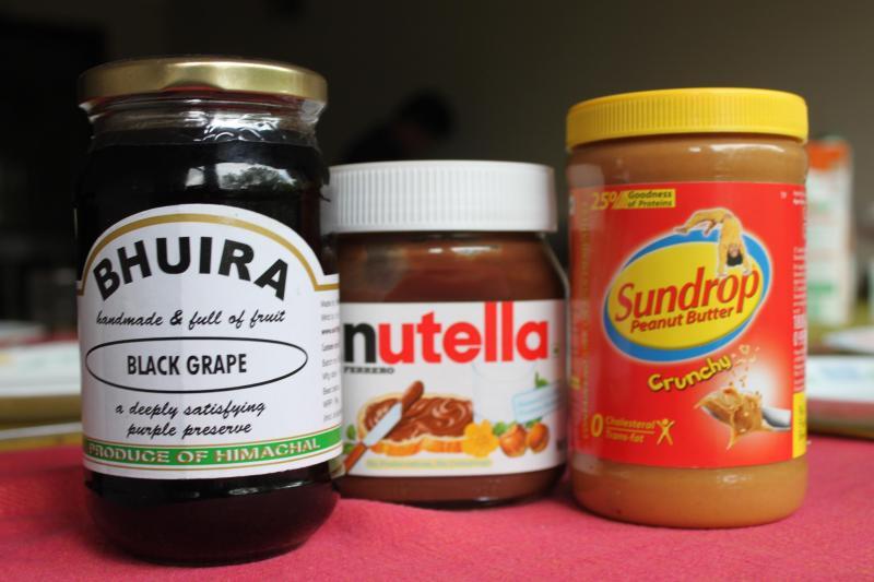 ¿Mermelada, Nutella o mantequilla de maní?