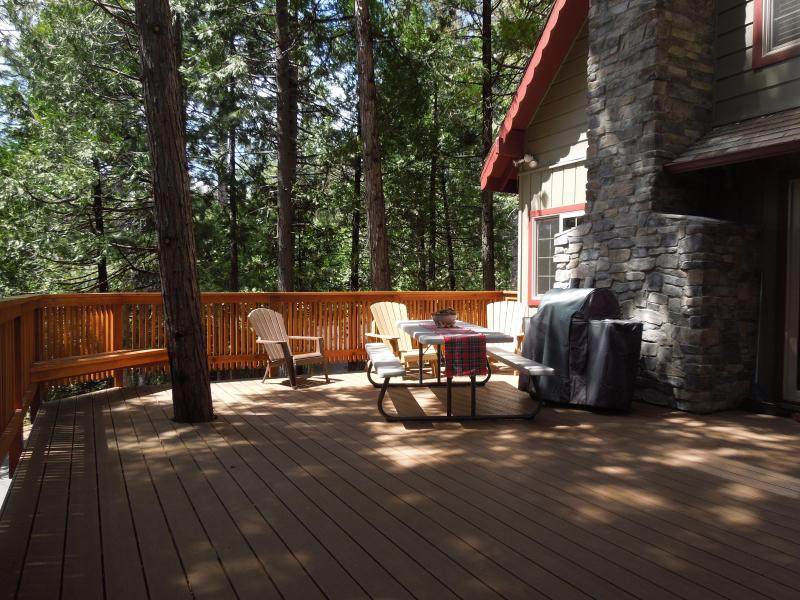 8 foot picnic table, Adirondack chairs, BBQ, and plenty of space to enjoy!