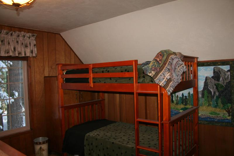 Bunk beds in rear family bedroom