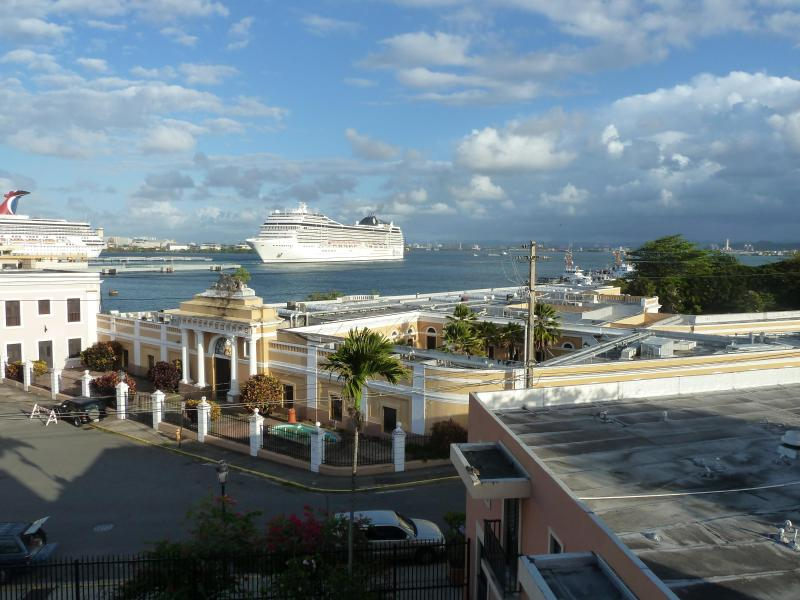 View of San Harbor from large balcony.