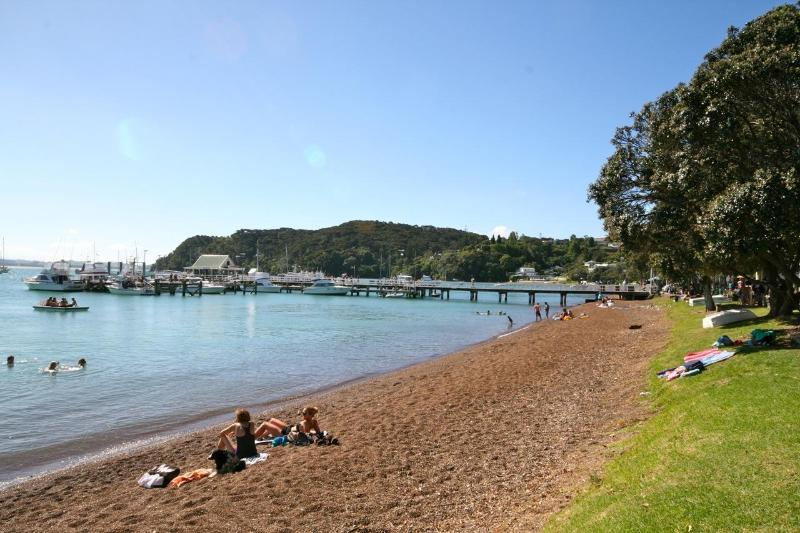 Russell waterfront beach