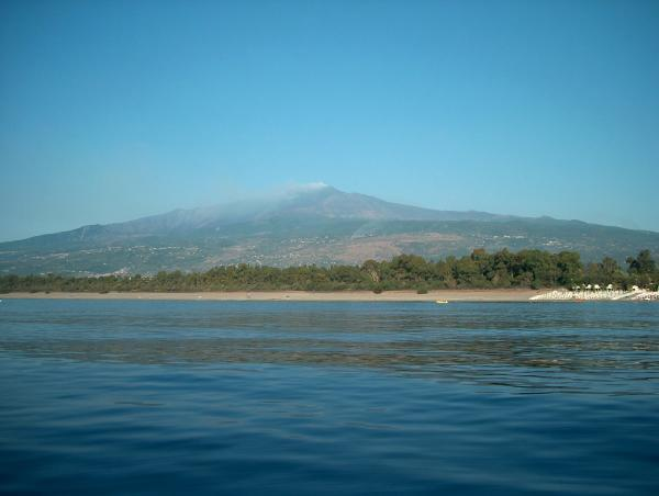 Etna vista dal mare