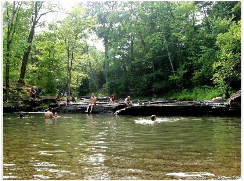 the public swimming hole in town