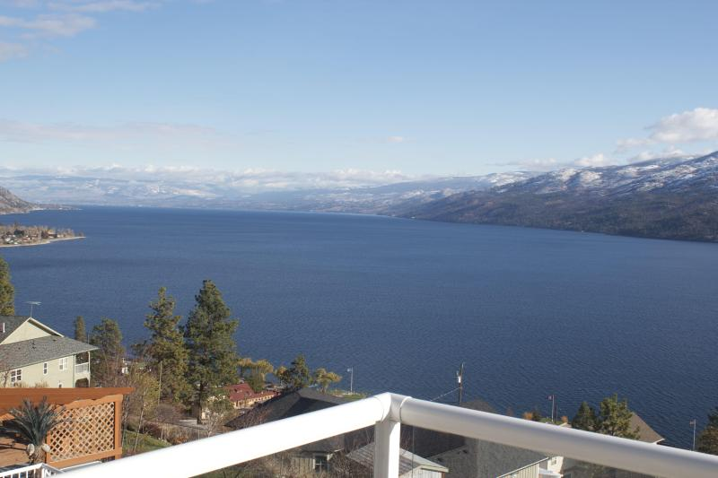Lake view from the master bedroon's balcony.