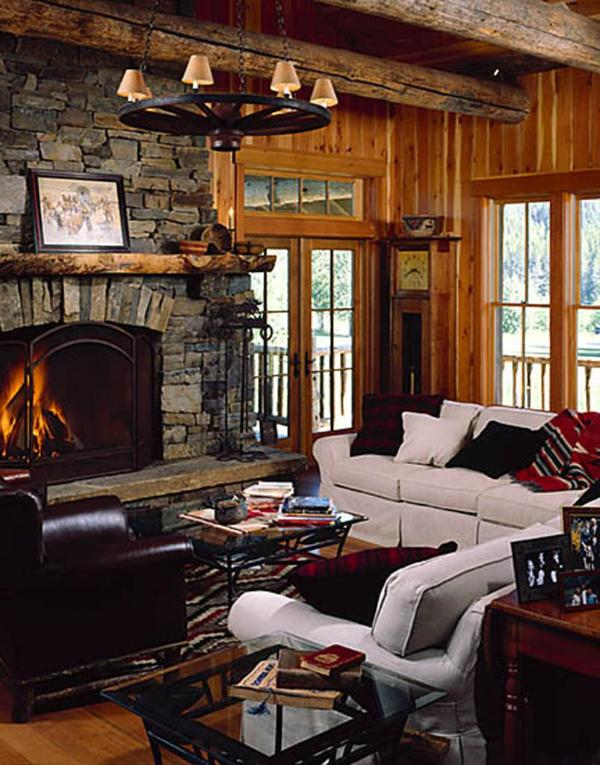 Lodge Great Room & Fireplace