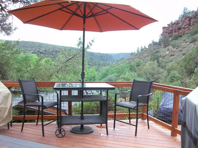 Private Deck and Patio - Casita
