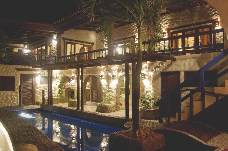 Exterior View of Large Patio & Lap Pool