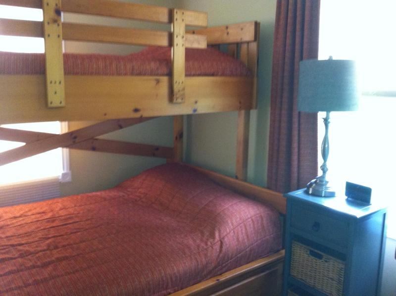 Bunkbed in 2nd Bedroom.  Perfect for the kids.