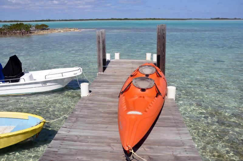 Exuma Vacation Cottages with waterfront dock, kayaks and 30ft heated pool., holiday rental in Great Exuma