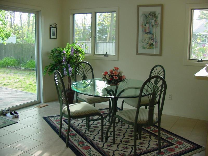 Kitchen access to deck