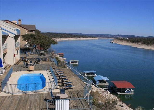 Swimming Pool above Lake Travis