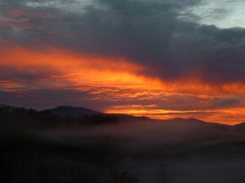 Nascer do sol no cume da bênção... que maneira de começar o dia!