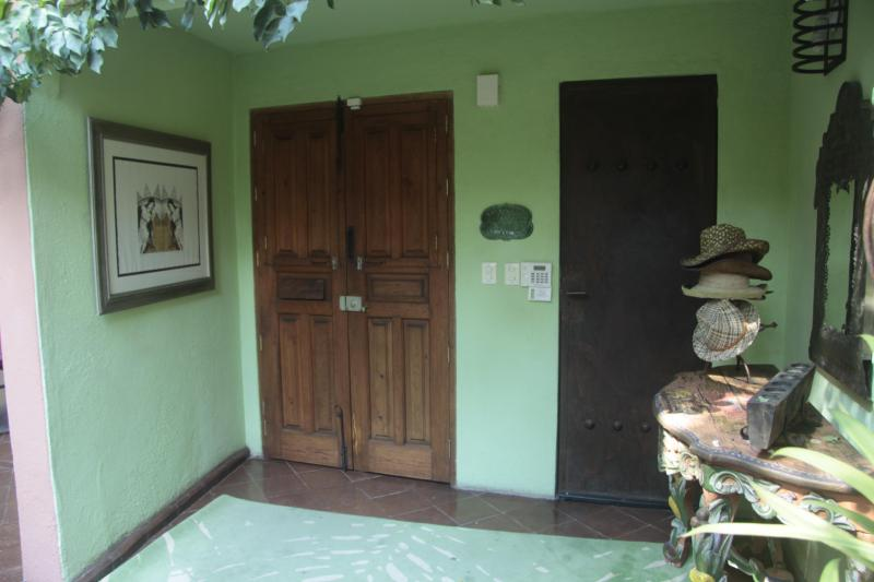 Entry area - secure door and alarm system