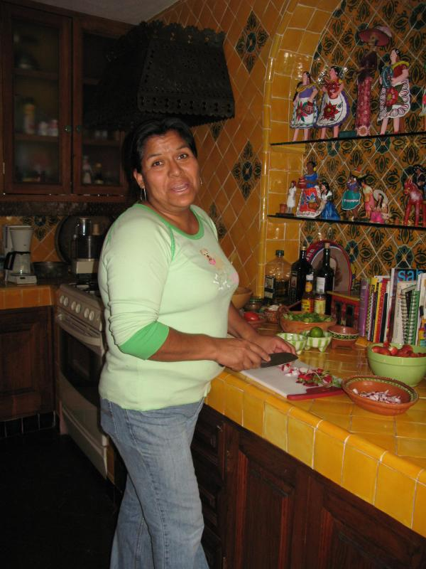 Mari, our housekeeper, works daily! No laundry for you!