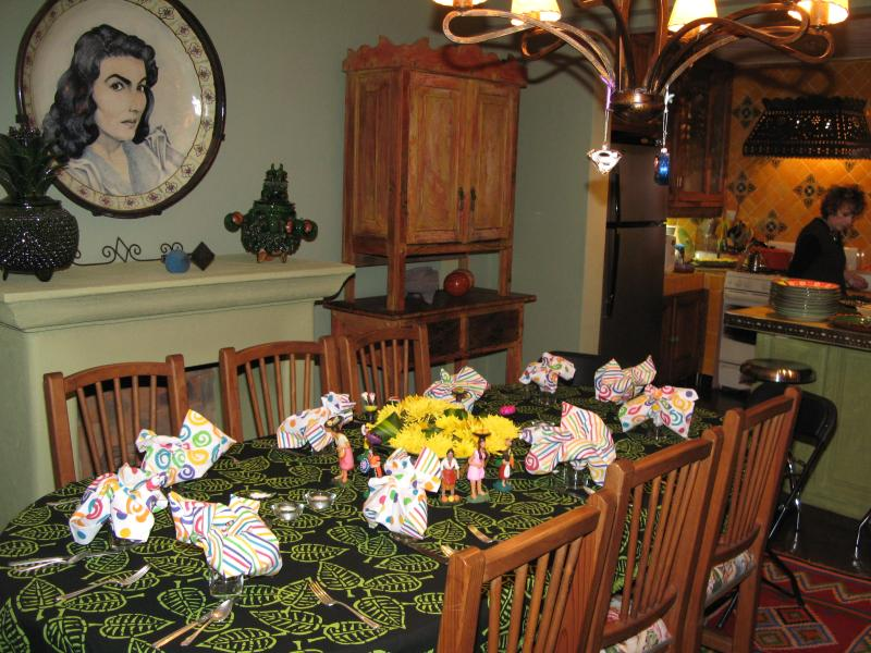 Dining Room Table set for a party