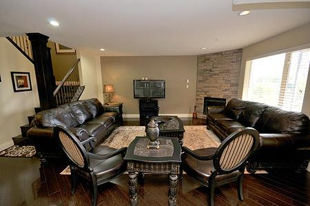 Well appointed living room.