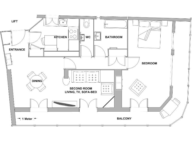 Map of the flat