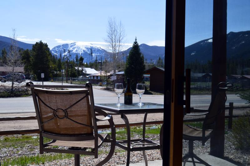 Our Private Back Patio with View of Mt. Baldy