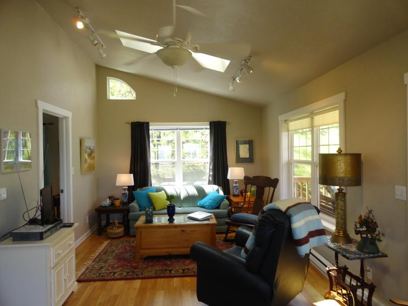 View of living area as you enter the cottage