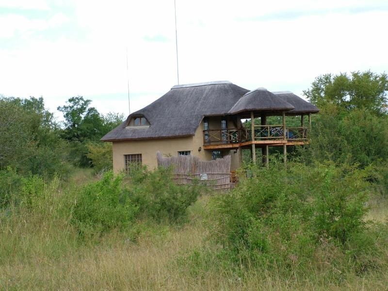 The house surrounded by the African bush