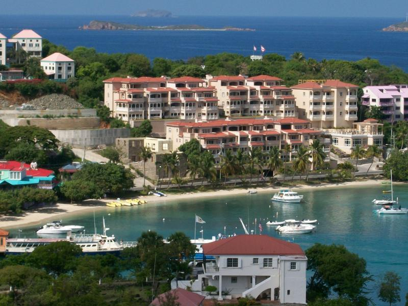 Grande Bay Resort sets on Cruz Bay. Convenient  to everything.