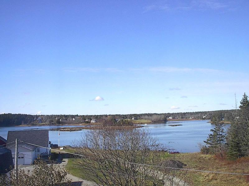 view of Bass Harbor from apartment