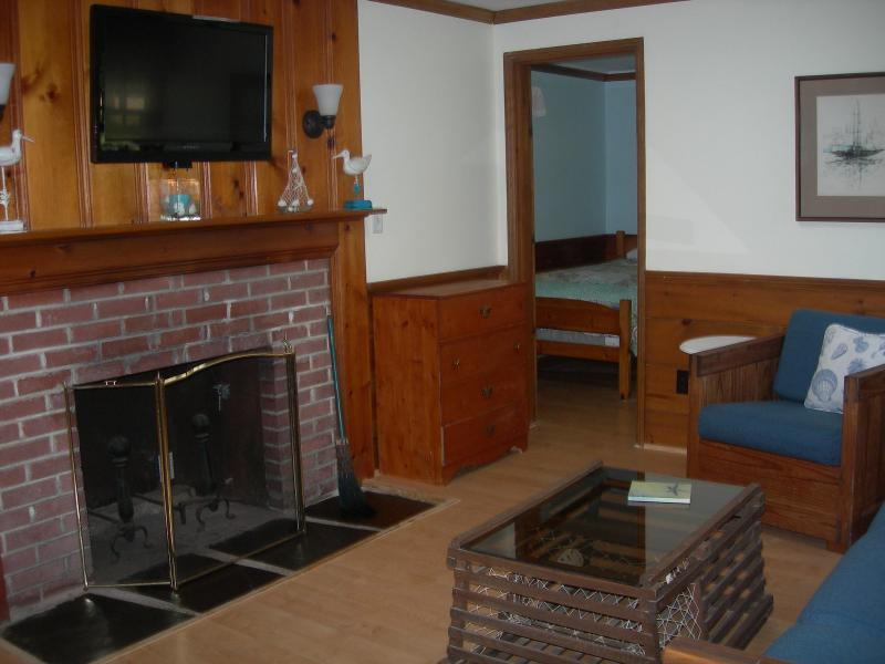 Cozy room with gas fireplace heater