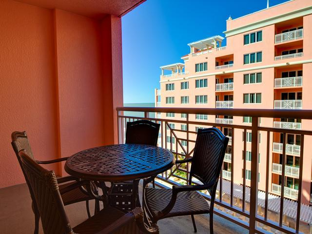 Dine or relax on your private balcony